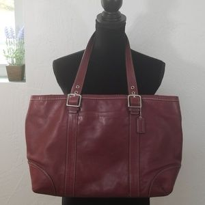 Burgandy plum coach purse